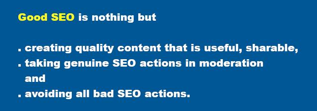 Good Search Engine Optimization