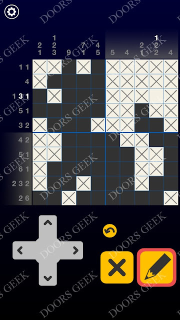 Picross Galaxy Level 4 Solution, Cheats, Walkthrough