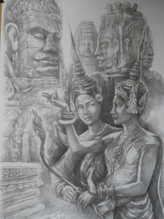 khmer apsara pictures - 539×720
