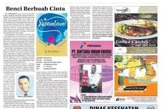 Benci Berbuah Cinta merupakan resensi atas buku Ninevelove karya J.S. Khairen terbitan Gramedia Pustaka Utama yang di muat di Radar Sampit.