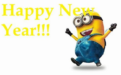 Gambar Selamat Tahun Baru Kartun Minion Lucu
