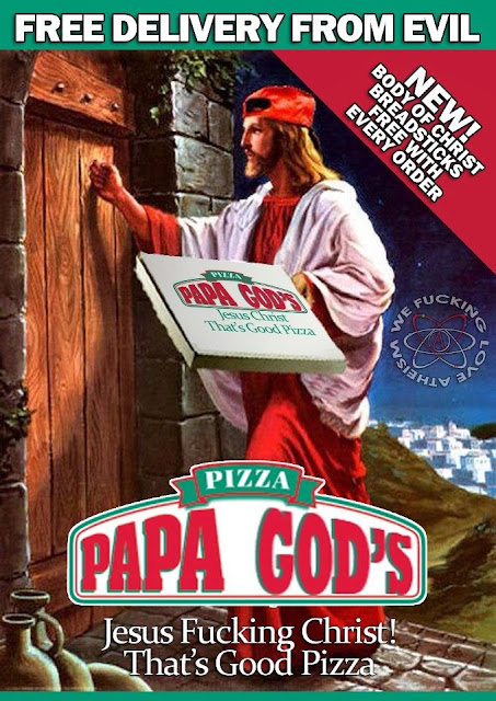 Funny Jesus Delivery From Evil Pizza Joke Picture