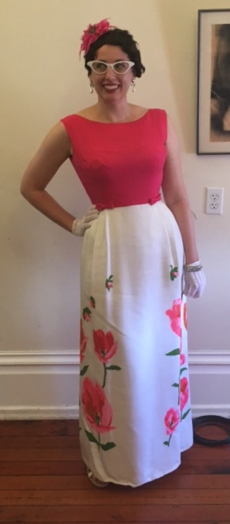 Sumage Solution Book Launch Outfit: Pink 1960s Maxi Dress