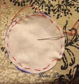 Chain Stitching Fabric Yo-yos