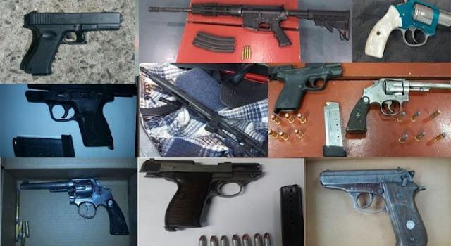 En 6 días aseguran 13 armas y detienen a 5 sujetos en Tijuana