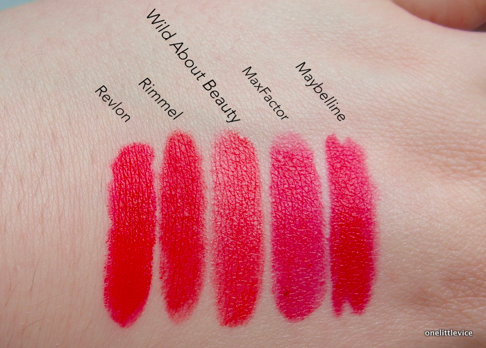 One Little Vice Beauty Blog: Wild About Beauty Lipstick Cherrie Review