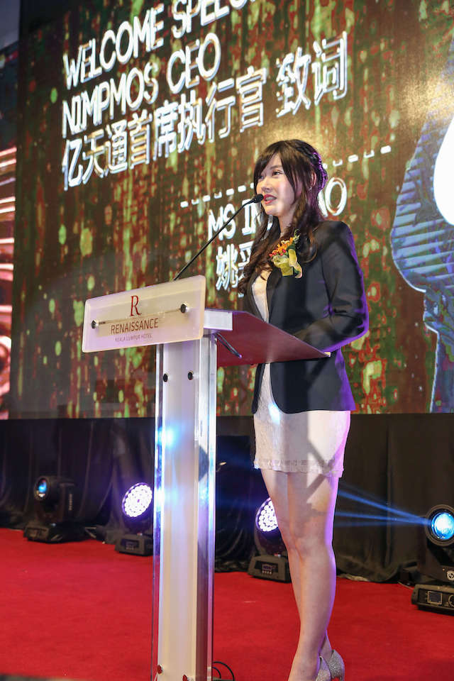 Ms. Ines Yao, founder and CEO of NIMPMOS at the grand launch