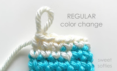 Invisible color change technique - free crochet tutorial | 242x400