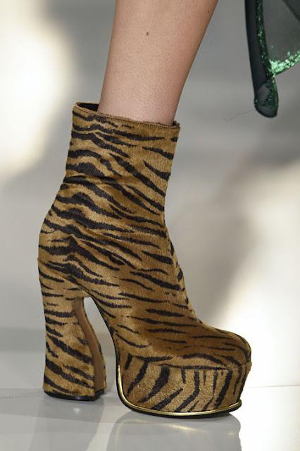 Maison Margiela faux fur, platform boots from winter 2016