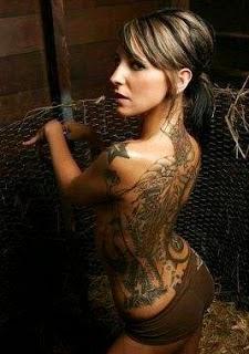 beautiful girl with tattoos