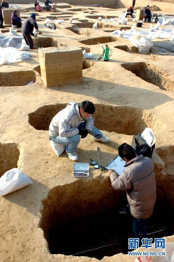 Historical relics unearthed in China's Henan