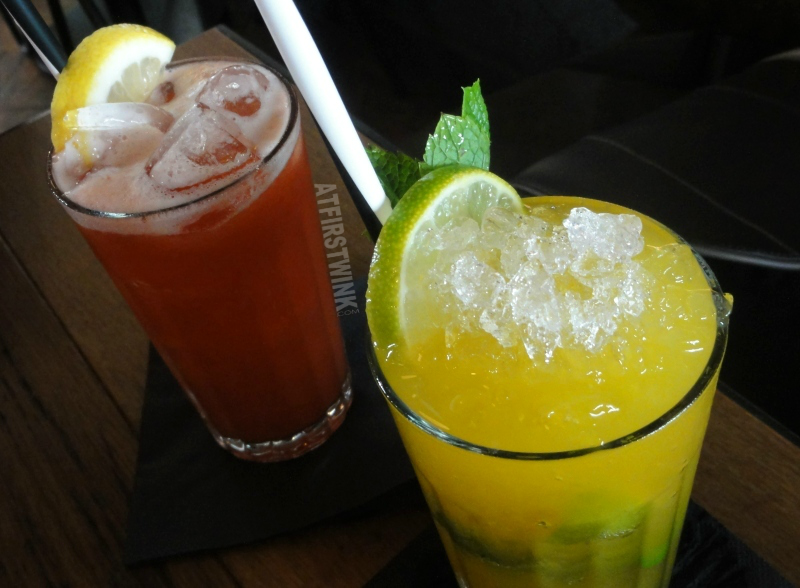 Jamie's Italian Markthal Berry Blast Ginger & Mango mojito non-alcoholic cocktails