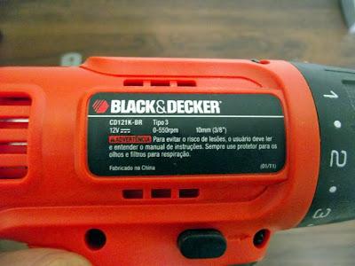 CD121K50 Furadeira Parafusadeira Black Decker