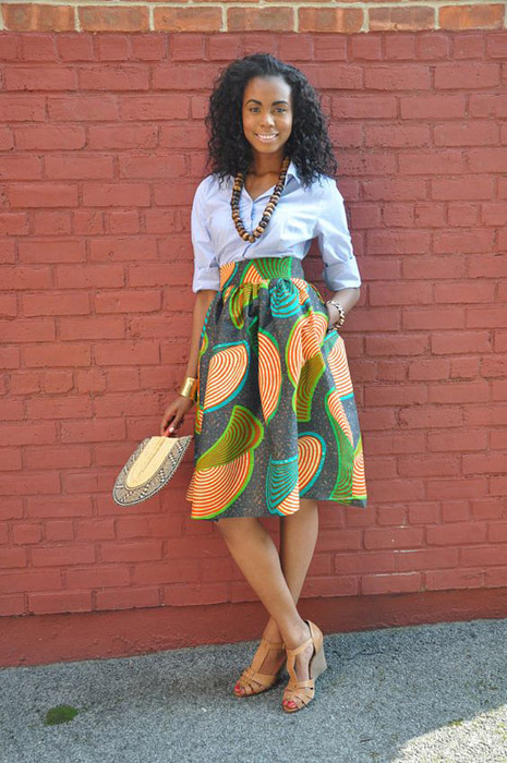 Short-African-Ankara-Pleated-skirts