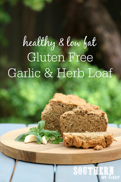 Easy Gluten Free Garlic and Herb Loaf Recipe - homemade gluten free breads, low fat, gluten free, healthy, clean eating recipe