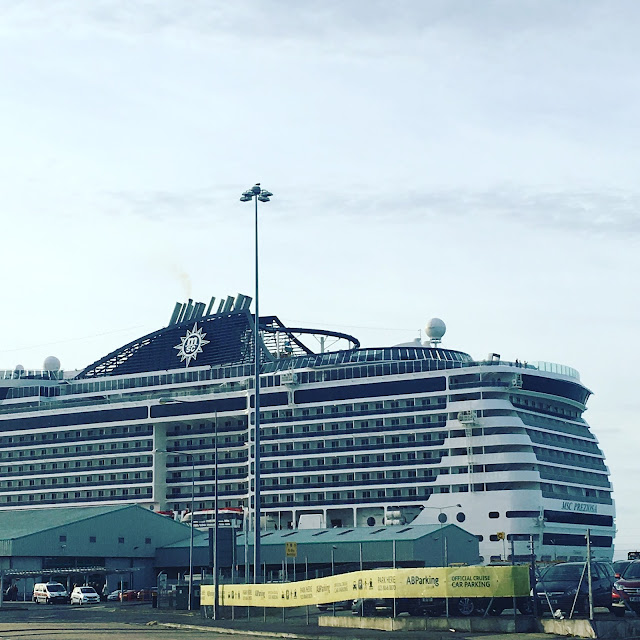 Southampton docks MSC Preziosa cruise ship #BlogCampOnBoard