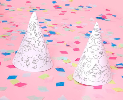 Color in Party Hats
