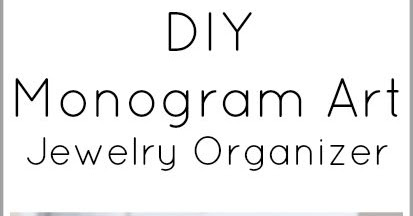 Monogram Art Jewelry Organizer