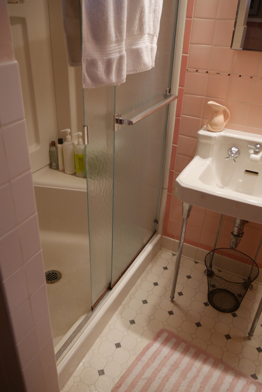parcel & frock: PINK BATHROOM REMODEL PLANS