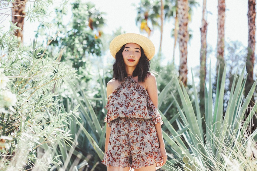 Stephanie Liu of Honey & Silk wearing Tularosa and Raye