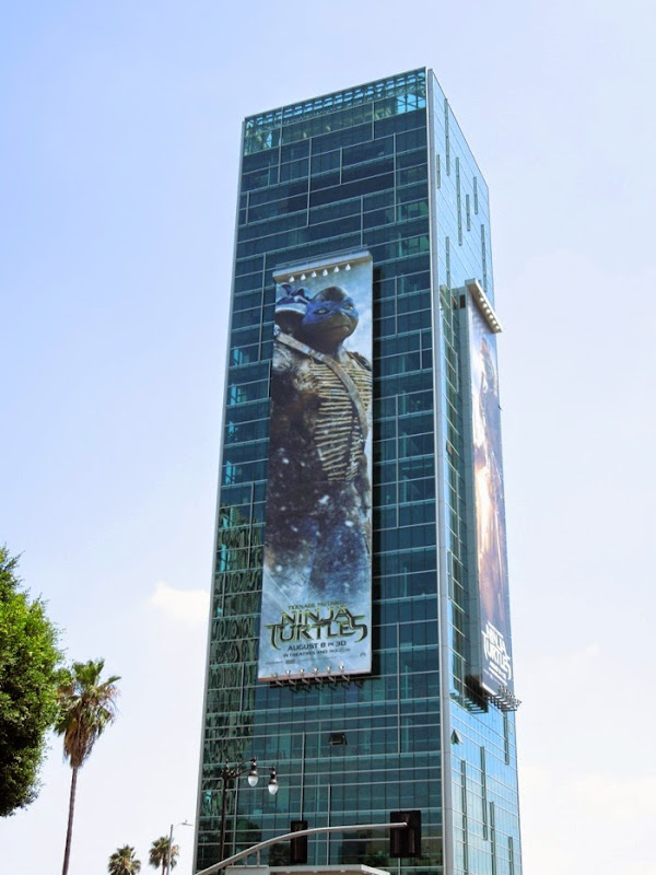 Giant Leonardo Ninja Turtles billboard