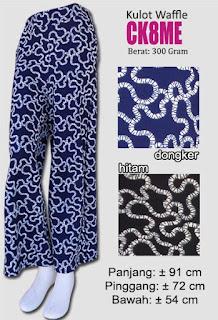 Celana kulot bahan waffle motif terbaru