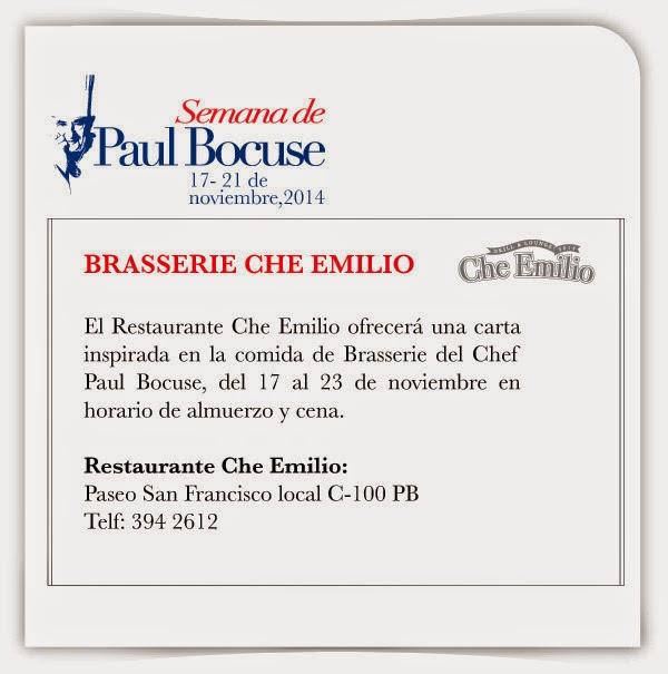 """Brasseries en la """"Semana de Paul Bocuse"""", 17-23 noviembre, restaurantes Marcus USFQ y Che Emilio."""