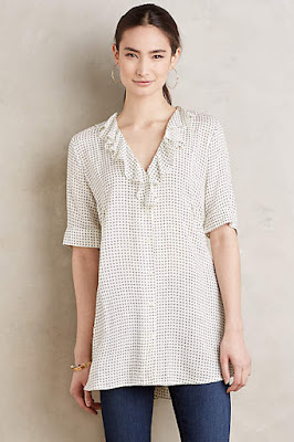 bohemian floral tunic top from anthropologie from the 2016 spring collection
