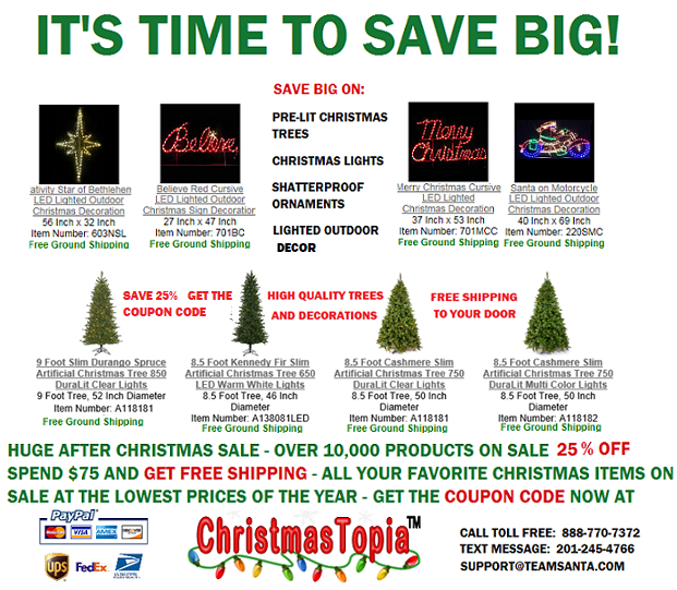 It's Time To Save Big At Our After Christmas Sale
