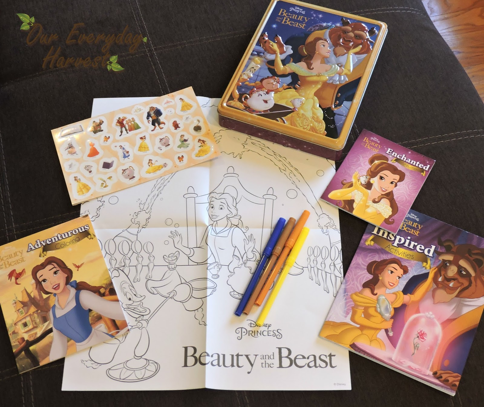 to celebrate the new live action film parragon books has released a collection of beauty and the beast themed activity books and kits this disney princess