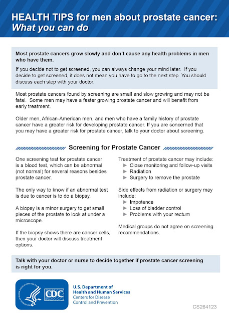 Prostate Cancer, Infographic, CDC