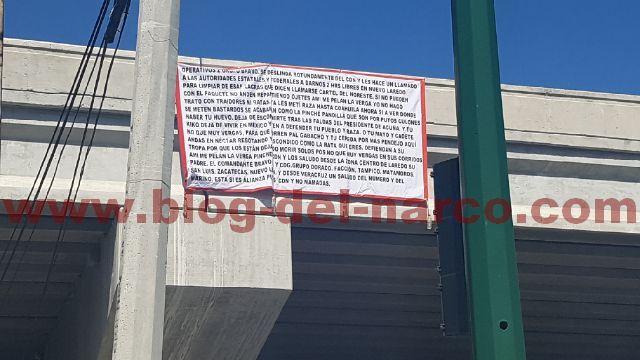 En Narcomantas Zetas piden 2 hrs a autoridades en Nuevo Laredo para exterminar al CDN