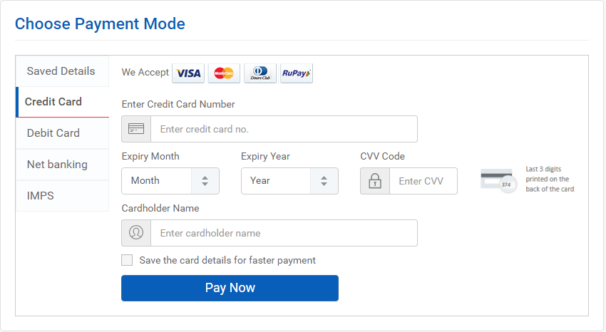 How to send money from credit card to bank account in india