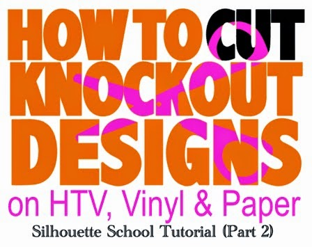 How to cut a silhouette knockout design on htv vinyl and paper silhouette tutorial silhouette studio htv vinyl paper knockout design fandeluxe Image collections