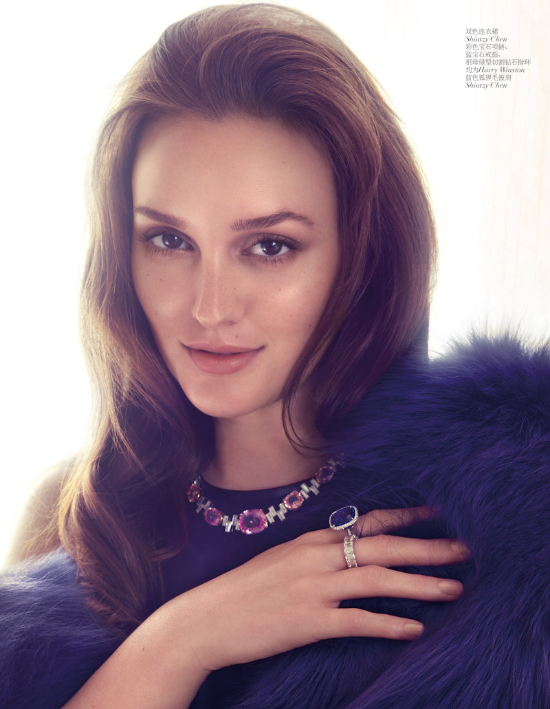 Leighton Meester Images Fashion Magazine Hd Wallpaper And: Leighton Meester Is Elegant In Shanghai For Vogue China