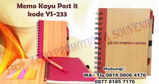 Barang Promosi Memo Kayu YS-233, Memo/Agenda/Kalkulator, Jual Memo Kayu Post It (YS-233), Souvenir Memo kayu daur ulang, Recycle Note Series, Memo Recycle Soket Pen dengan harga termurah