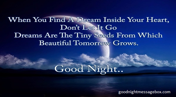 Good night poems to her