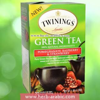 شاي اخضر بالرمان والتوت