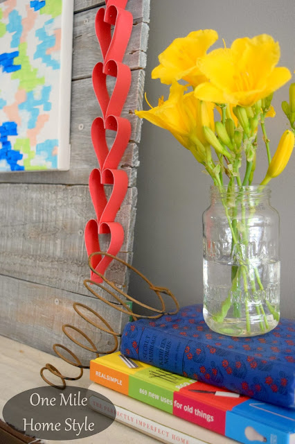 Summer Tabletop Decor - One Mile Home Style