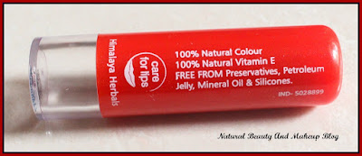 Himalaya Herbals Strawberry Shine Lip Balm - Review, FOTD and Swatches on Natural Beauty And Makeup Blog