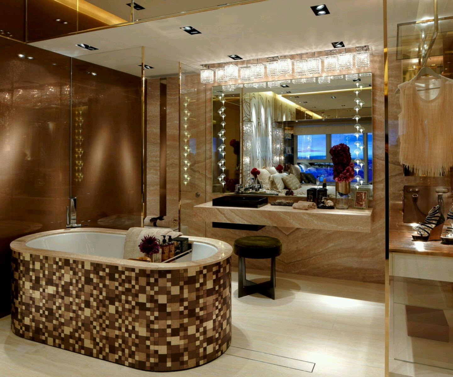 New Home Designs Latest Modern Interior Decoration: Modern Homes Modern Bathrooms Designs Ideas.