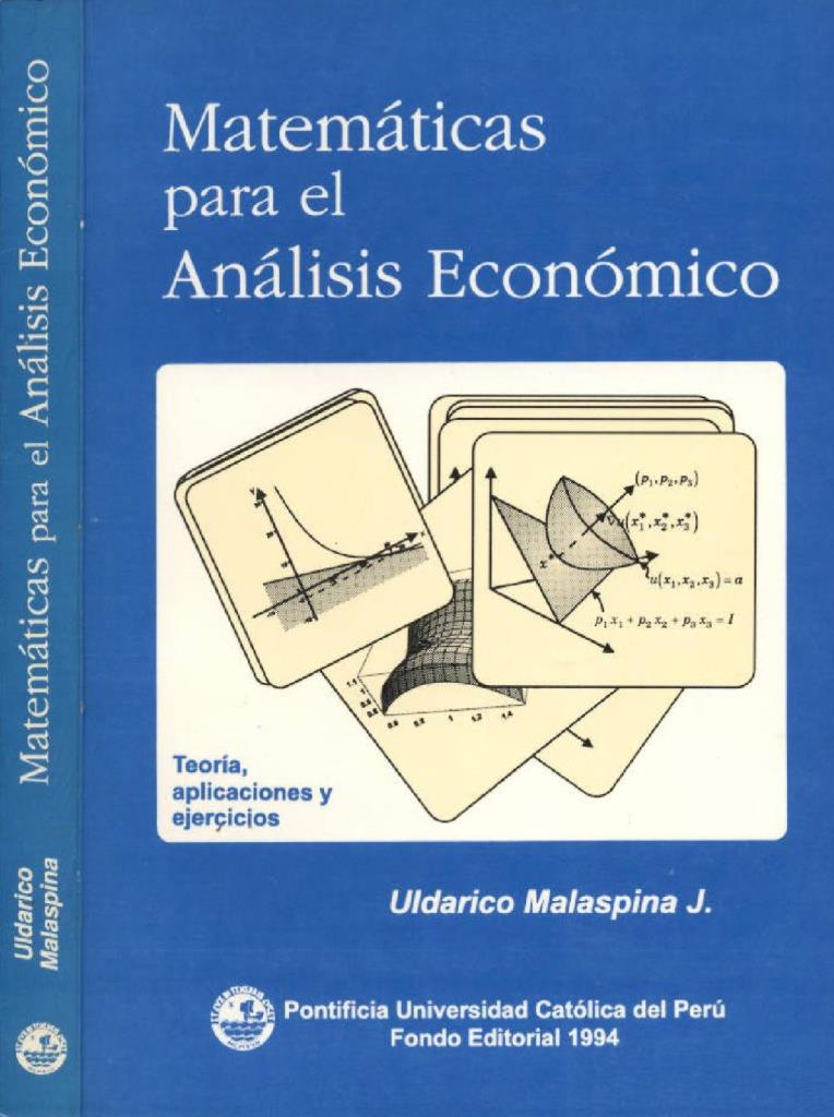 Matemáticas para el análisis económico – Uldarico Malaspina J.