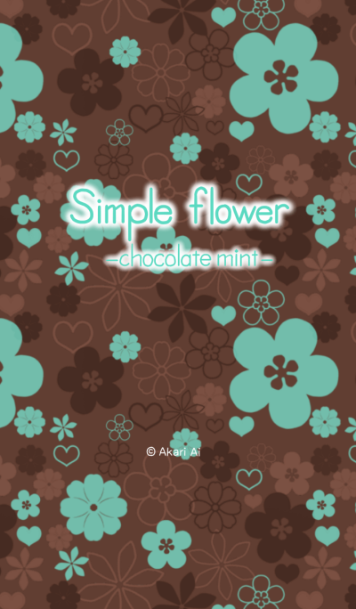Simple flower -chocolate mint-
