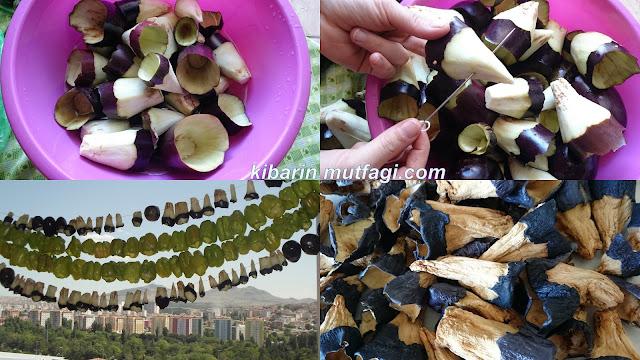 kışlık patlıcan kurusu nasıl yapılır dolmalık patlıcan kurutması nasıl yapılır