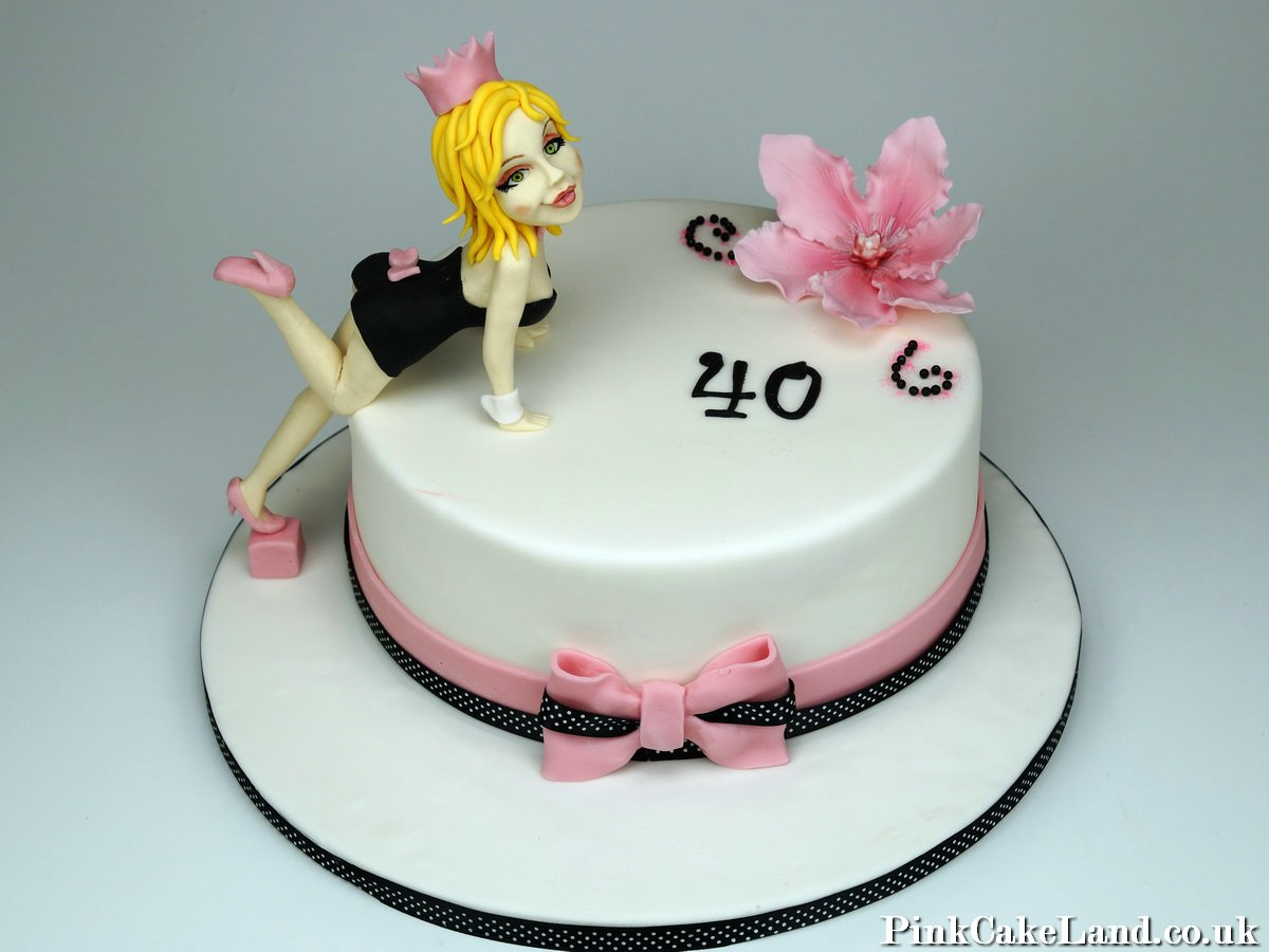 40th Birthday Cake For A Woman