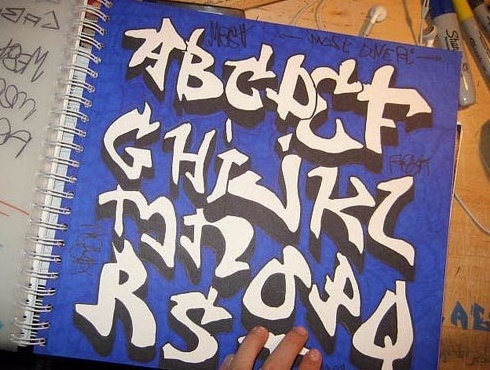 Sketches 3d Graffiti Alphabet Fonts | Digital Graffiti