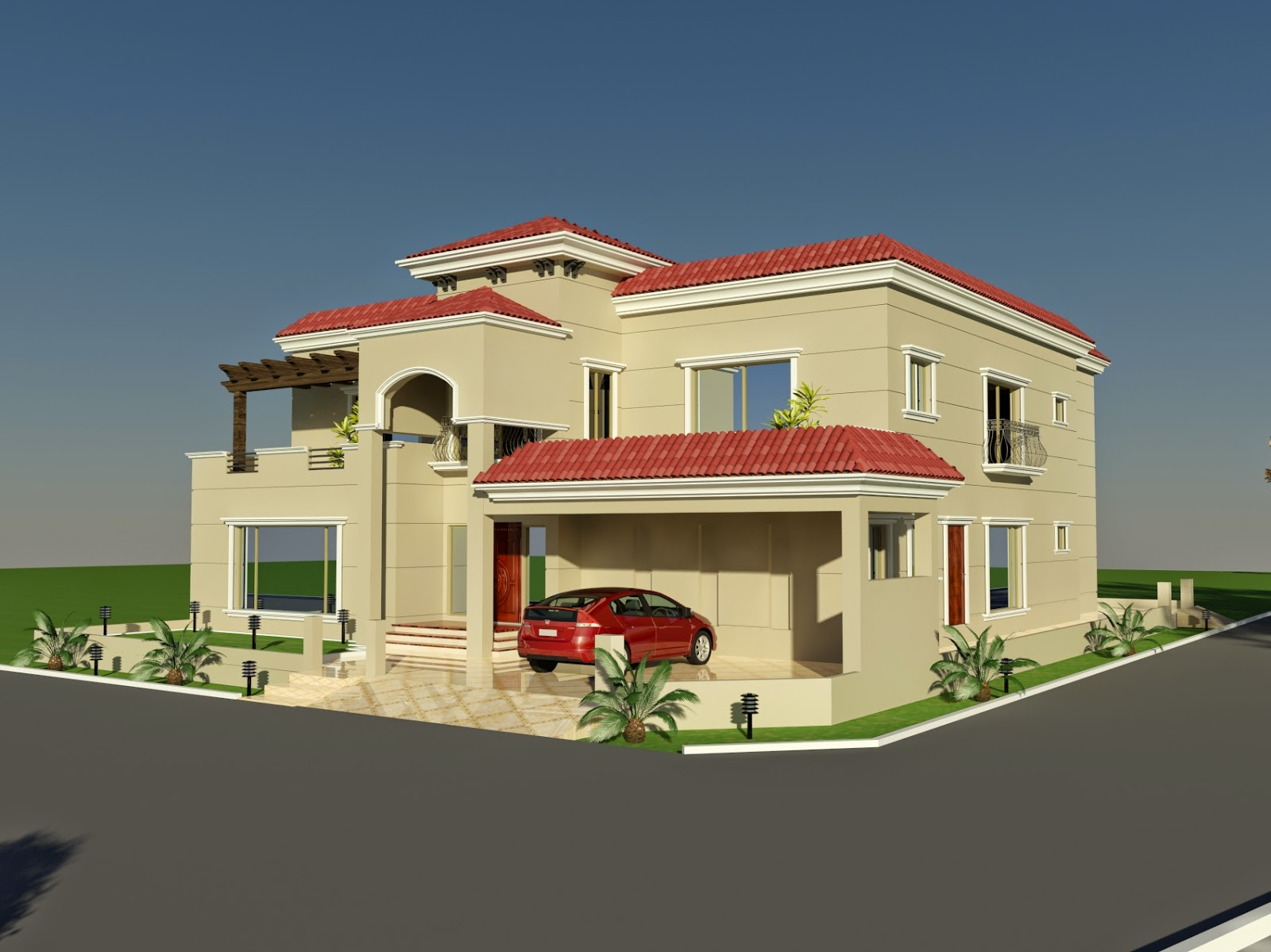 Front Elevation Of Houses In Usa : D front elevation portfolio