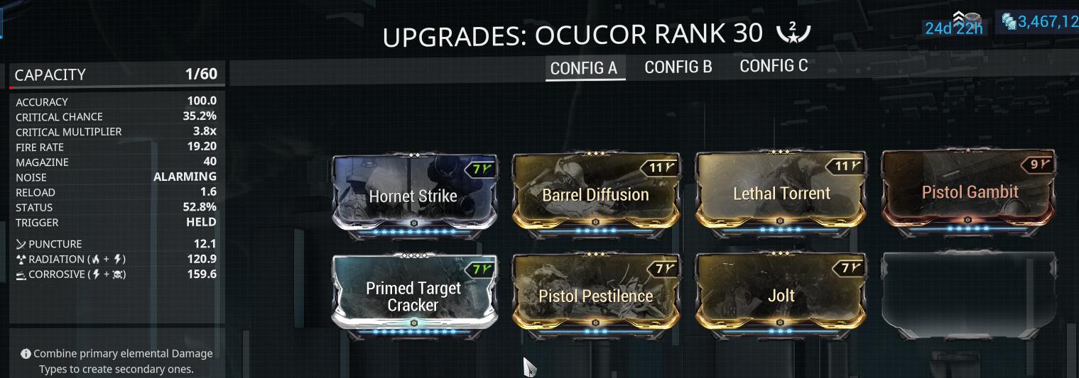 Ackbar's Tenno Report: Review: Ocucor (U24 0 8)