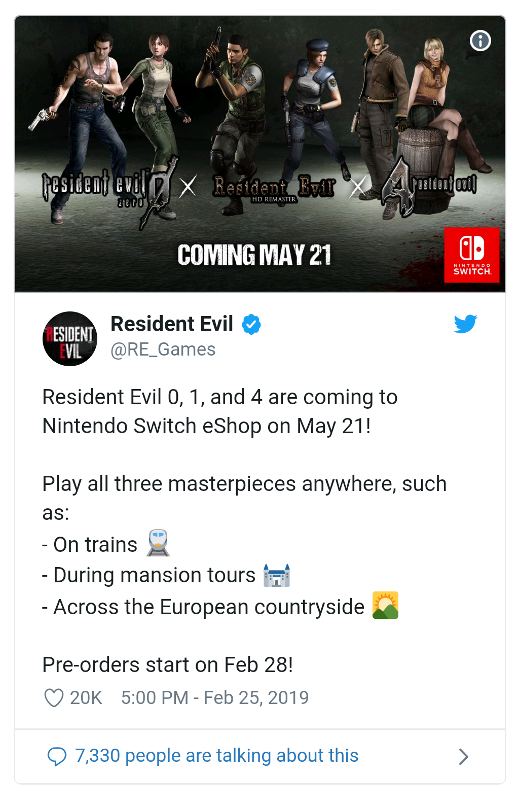 Erudipedia: Resident Evil 0, 1 and 4 Official Release Date Confirmed