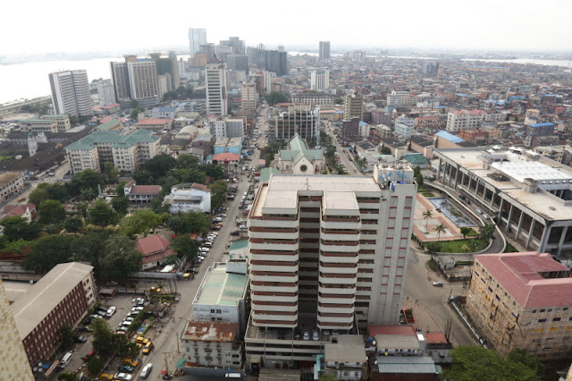 Lagos Island financial district and the nearby markets